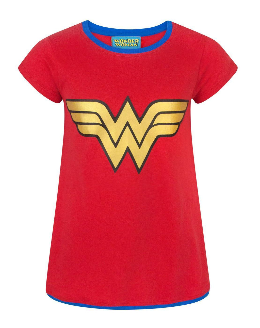 DC Comics Wonder Woman Metallic Logo Girl's T-Shirt