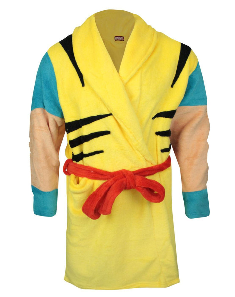 Marvel Wolverine Yellow Fleece Bathrobe