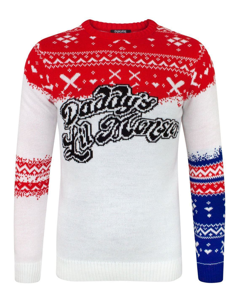 Suicide Squad Daddy's Lil Monster Christmas Jumper