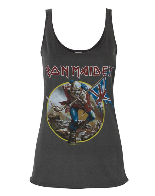 Amplified Iron Maiden Eddie Trooper Logo der Frauen Charcoal Vest