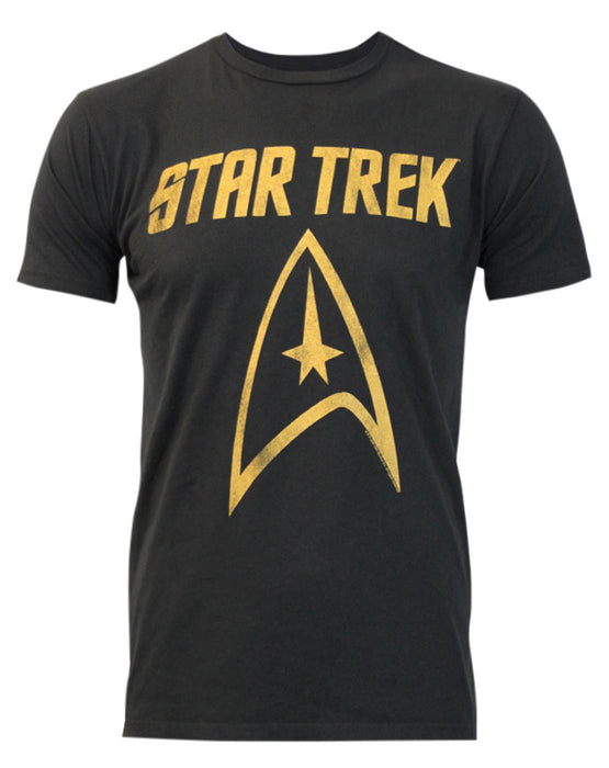 Junk Food Star Trek Logo Men's T-Shirt