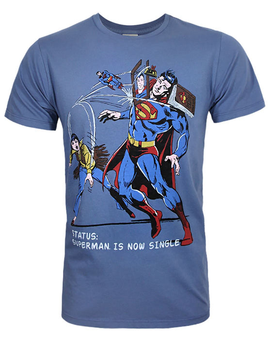 Junk Food Superman Is Now Single Men's T-Shirt