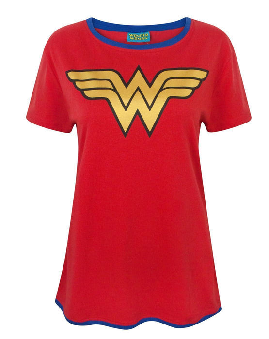 Wonder Woman Logo lady/'s tunic damen top shirt loose fit t-shirt