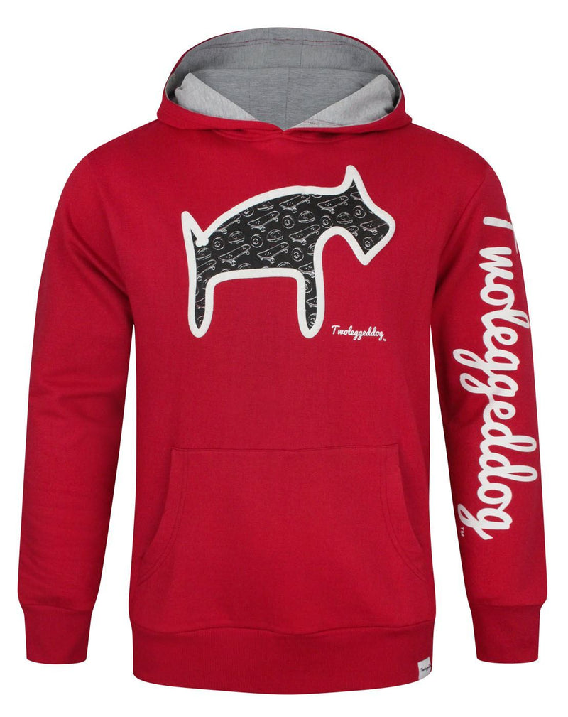 Two Legged Dog Puff Print Men's Hoodie