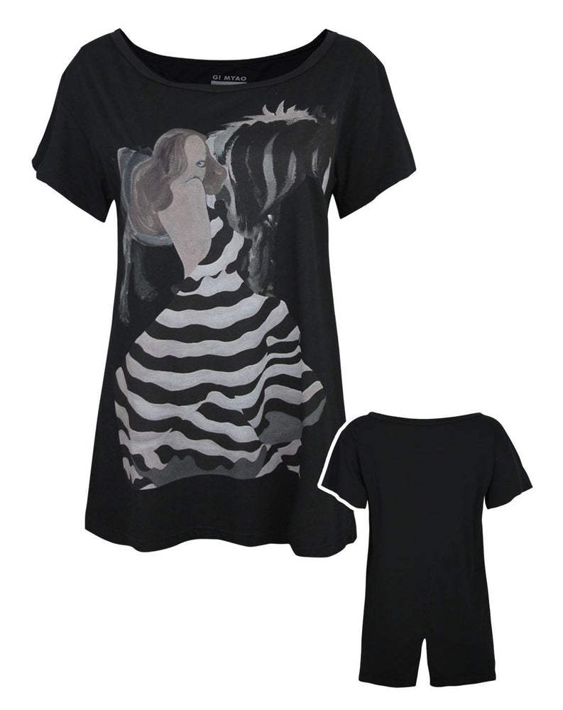 Blood Is The New Black Stripes and Stallions Women's T-Shirt