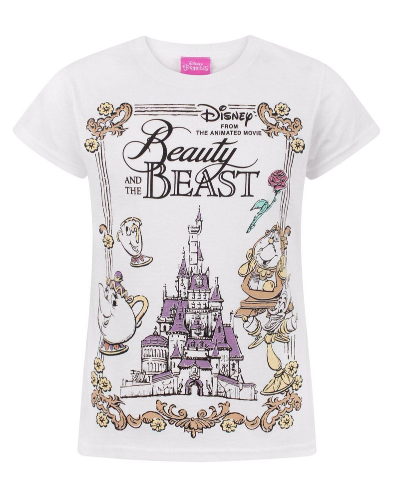 Disney Beauty And The Beast Enchanted Castle Girl's T-Shirt