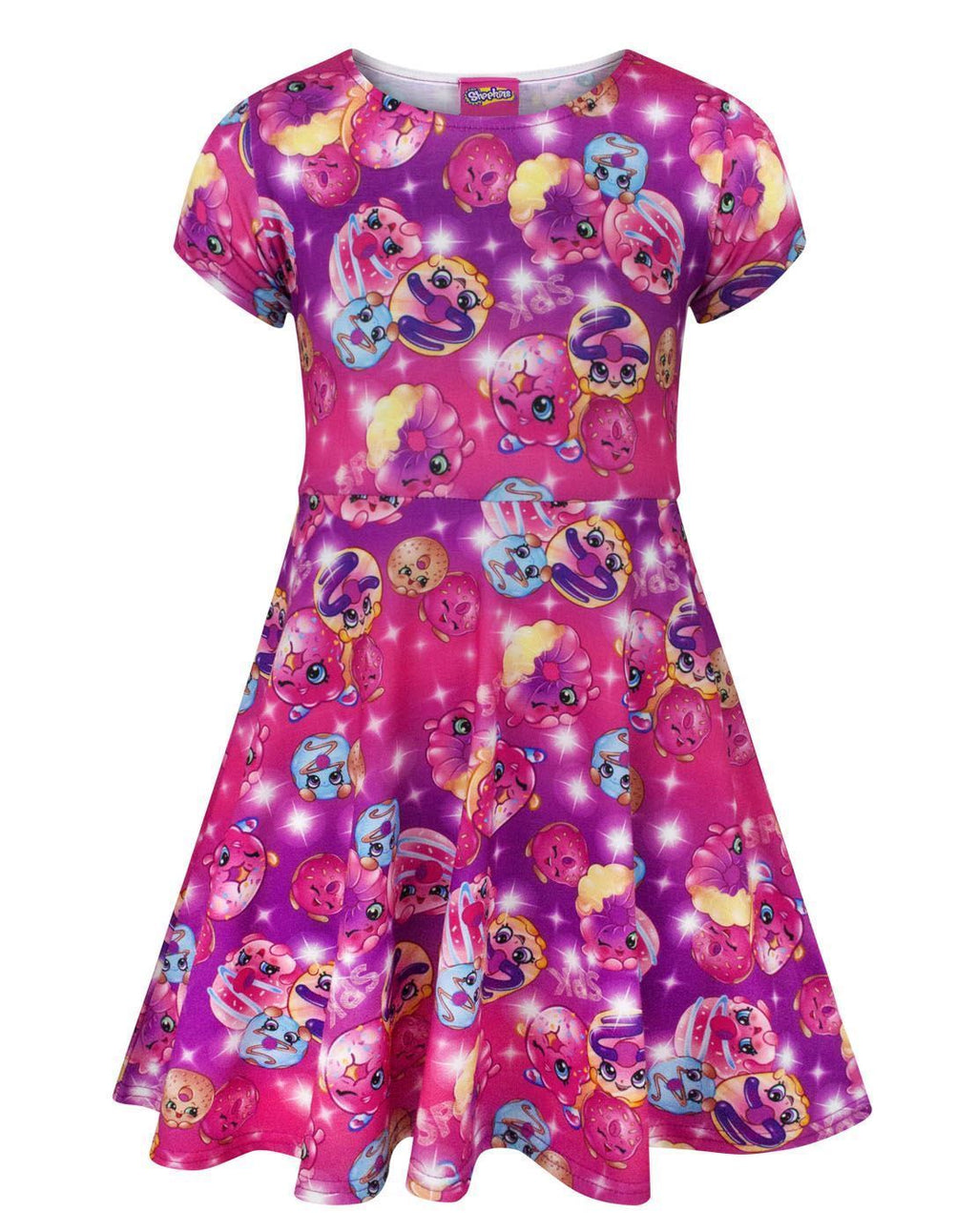 Shopkins D'Lish Donut Girl's Short Sleeved Dress