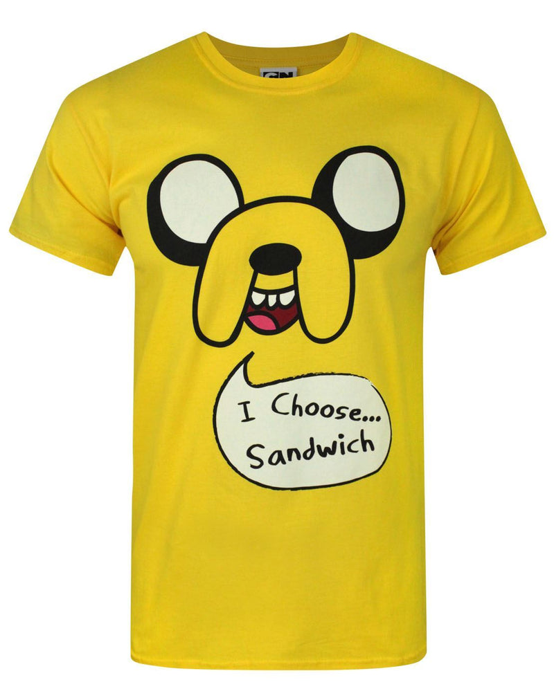Adventure Time Jake I Choose Sandwich Men's T-Shirt