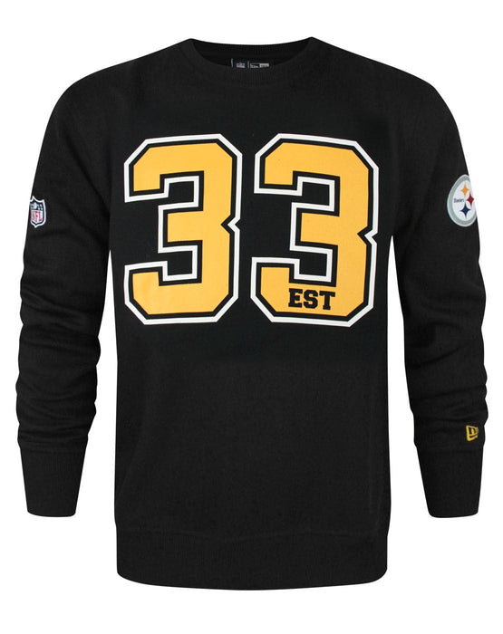 on sale 5fdf9 bb8ad New Era NFL Pittsburgh Steelers Team Number Men's Sweater
