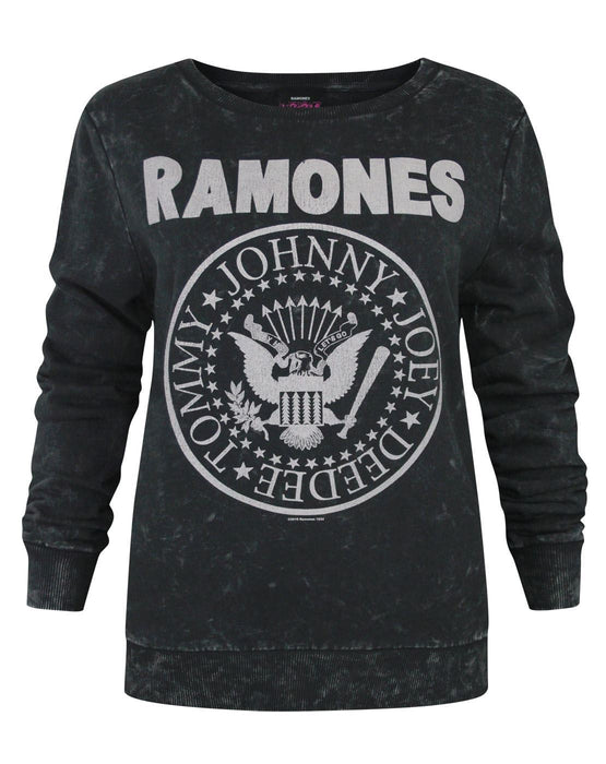 Amplified Ramones Seal Logo Women's Macrame Sweater