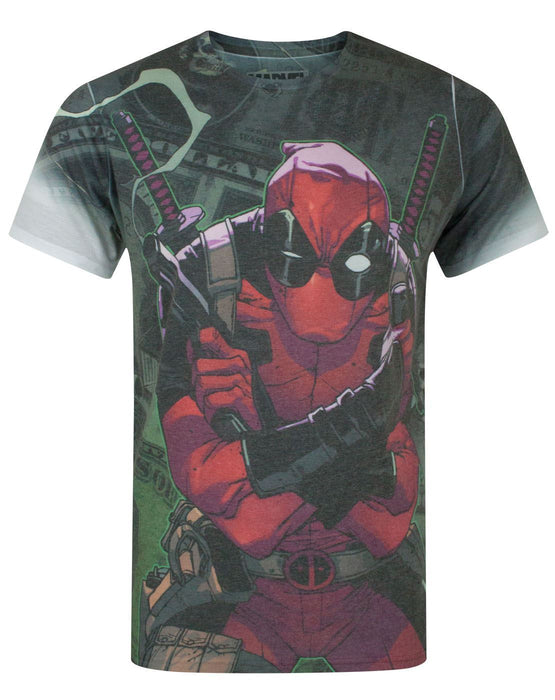 Marvel Deadpool Cash Sublimation Men's T-Shirt