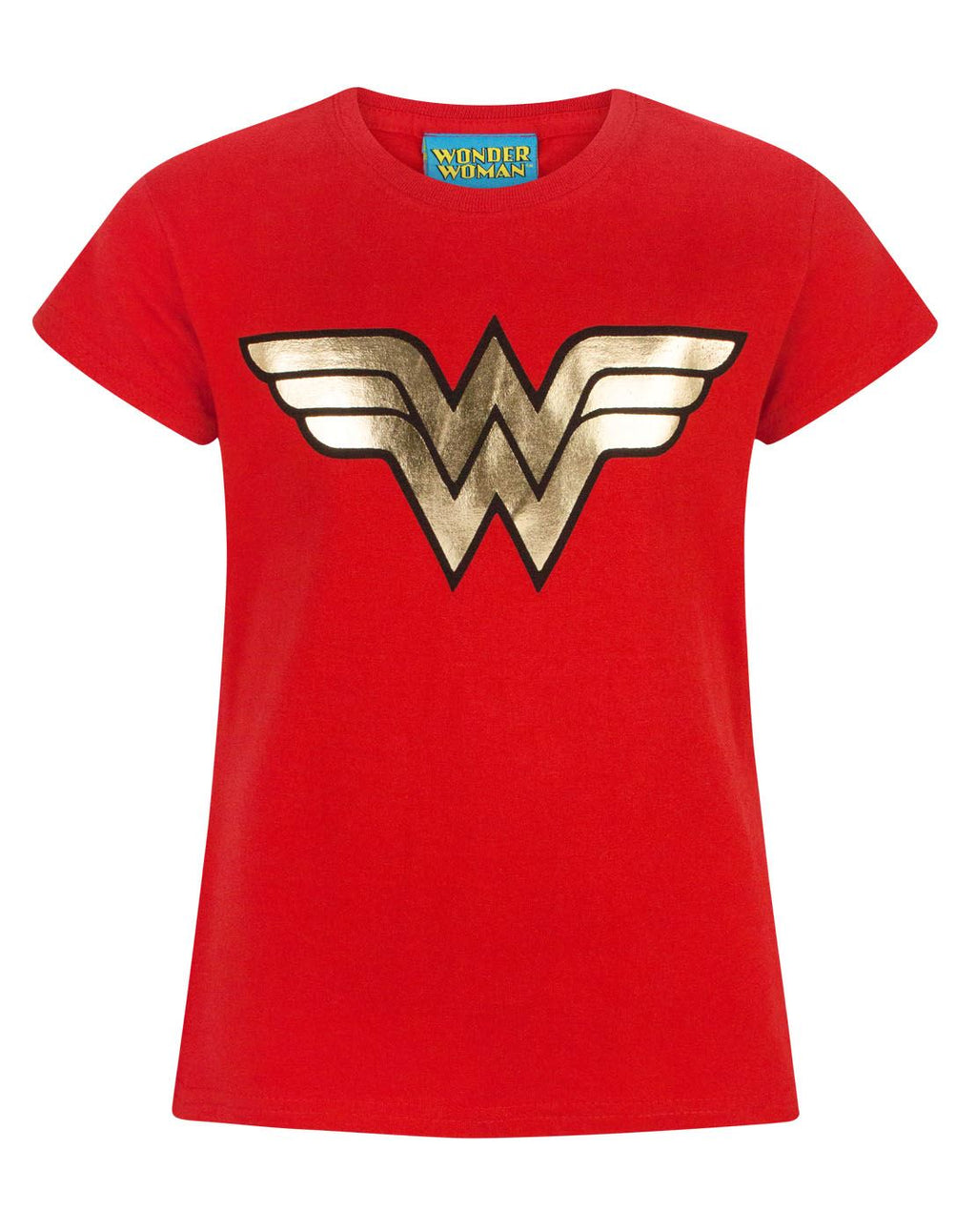 Wonder Woman Foil Logo Girl's T-Shirt