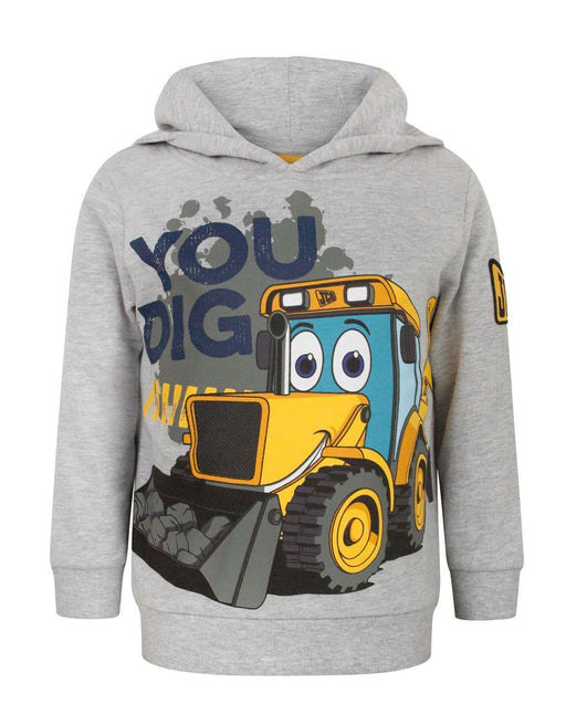 JCB You Dig Grey Boy's Hoodie