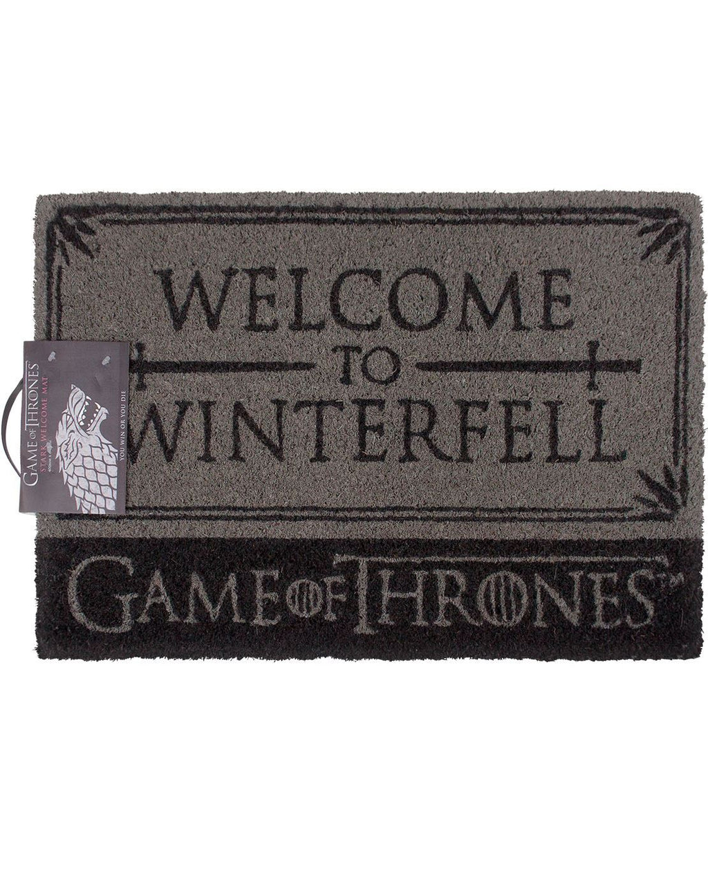 Game Of Thrones House Stark Welcome to Winterfell Door Mat