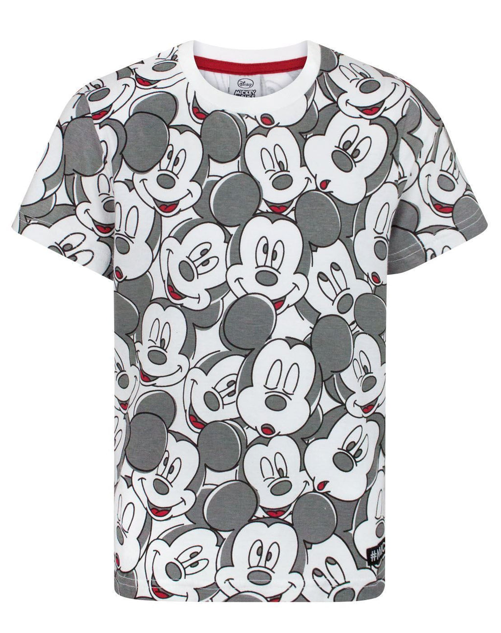 Disney Mickey Mouse Face All Over Print Boy's T-Shirt