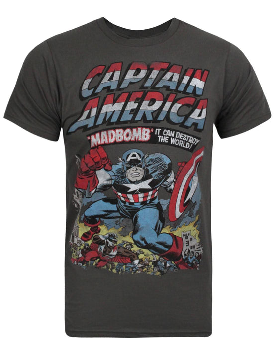 Jack Of All Trades Captain America Madbomb Men's T-Shirt