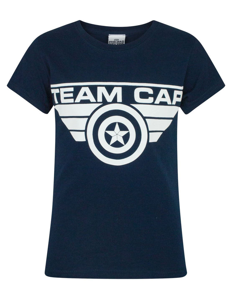Captain America Civil War Team Cap Girl's T-Shirt