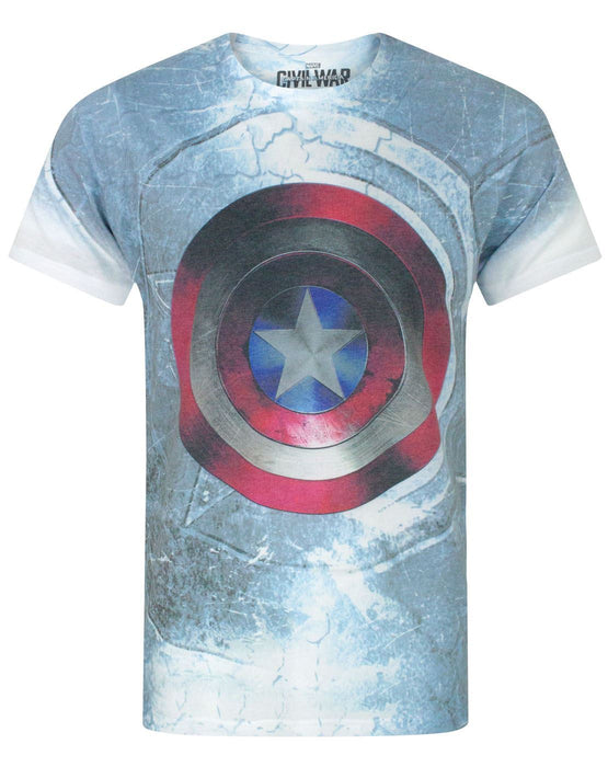 Captain America Civil War Shield Sublimation Men's T-Shirt