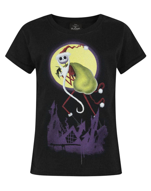 Nightmare Before Christmas Santa Jack Girl's T-Shirt
