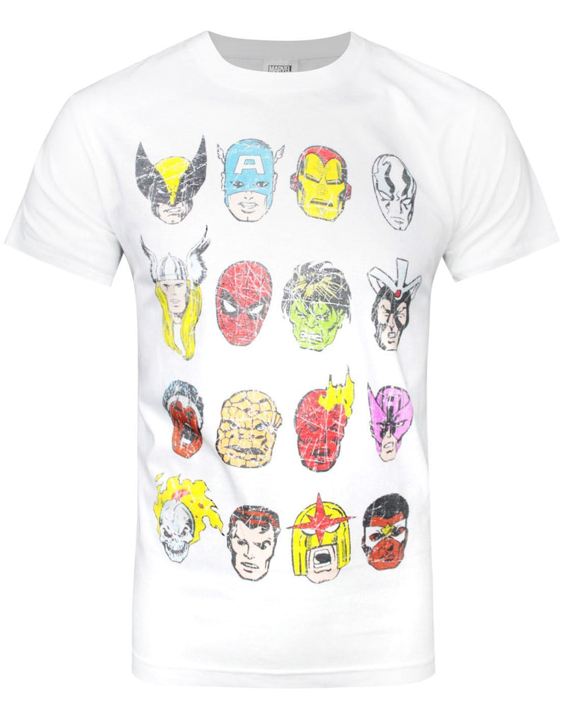 Marvel Comics Heads Men's T-Shirt
