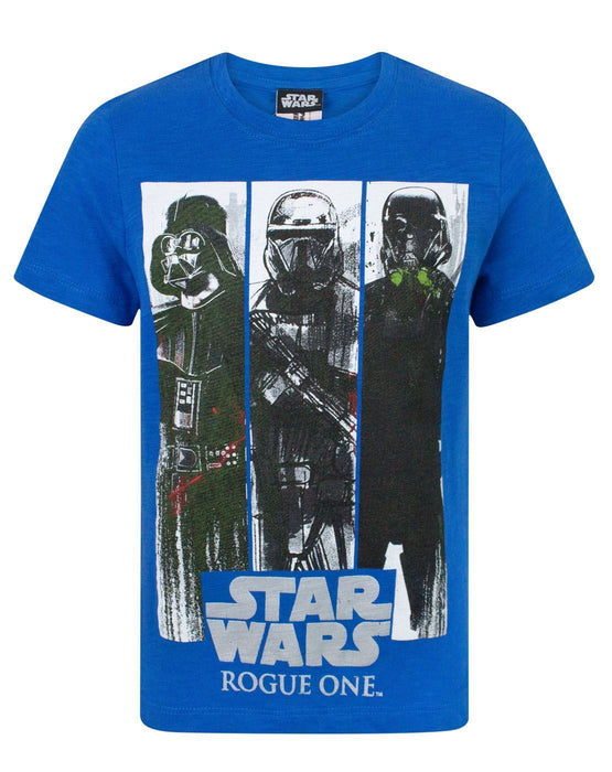 26c778da Star Wars Rogue One Character Panels Boy's T-Shirt — Vanilla Underground