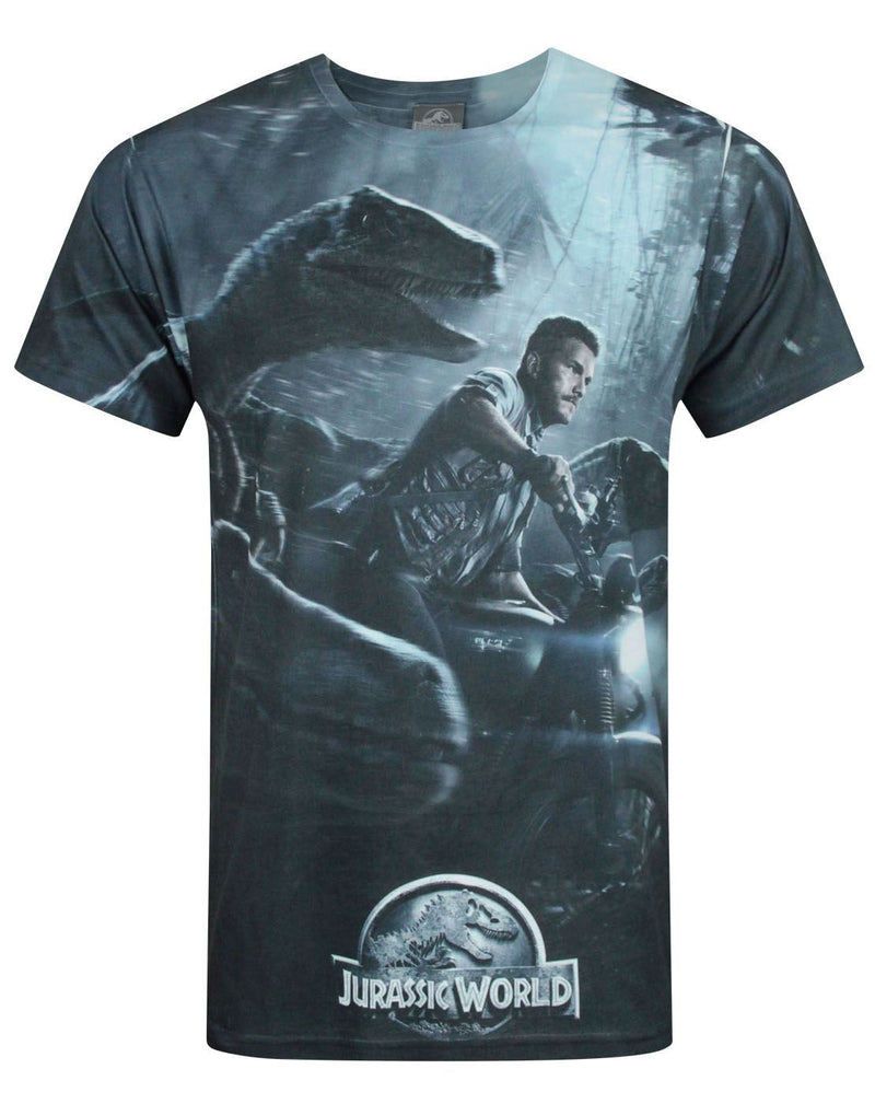 Jurassic World Raptors Sublimation Men's T-Shirt