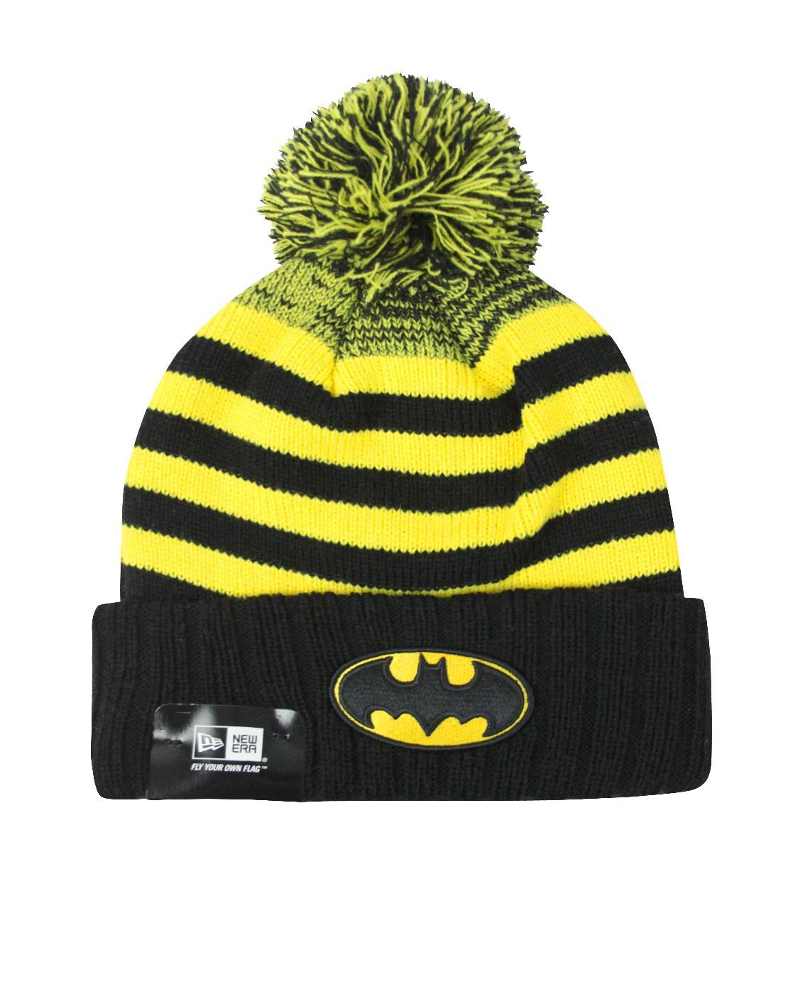 New Era Batman Snowfall Striped Knit Hat – Vanilla Underground dff919e4b61