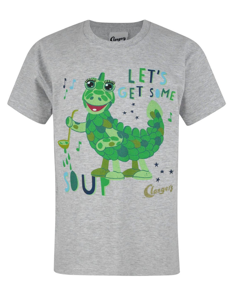 Clangers Soup Dragon Grey Short Sleeve Boy's T-Shirt