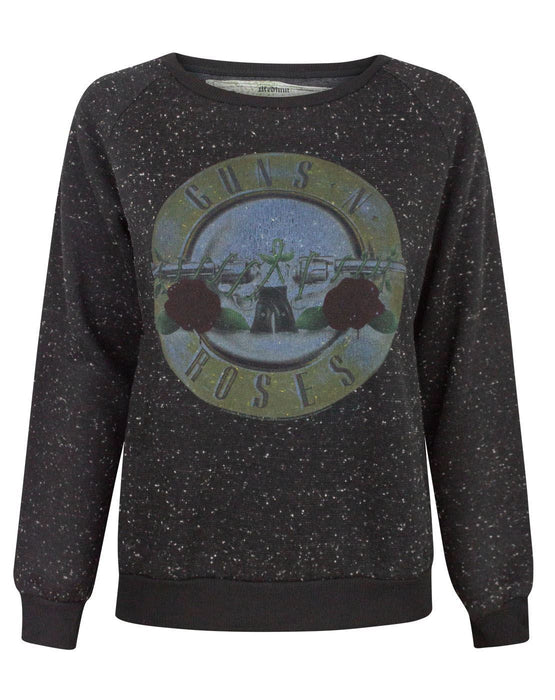 Amplified Guns N Roses Distressed Drum Women's Sweater