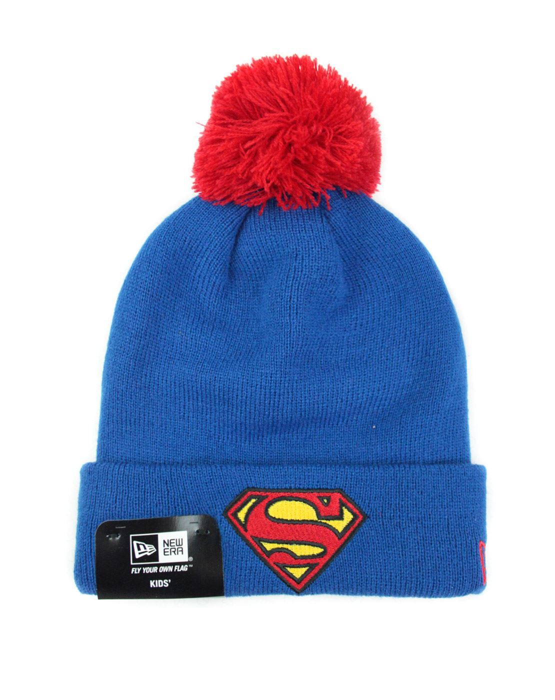 8d494534fcc New Era Superman Bobble Cuff Kids Knit Hat – Vanilla Underground