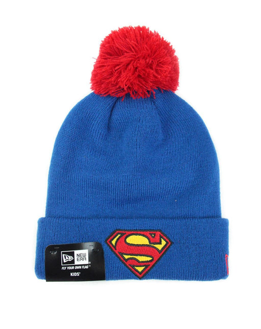 New Era Superman Bobble Cuff Kids Knit Hat