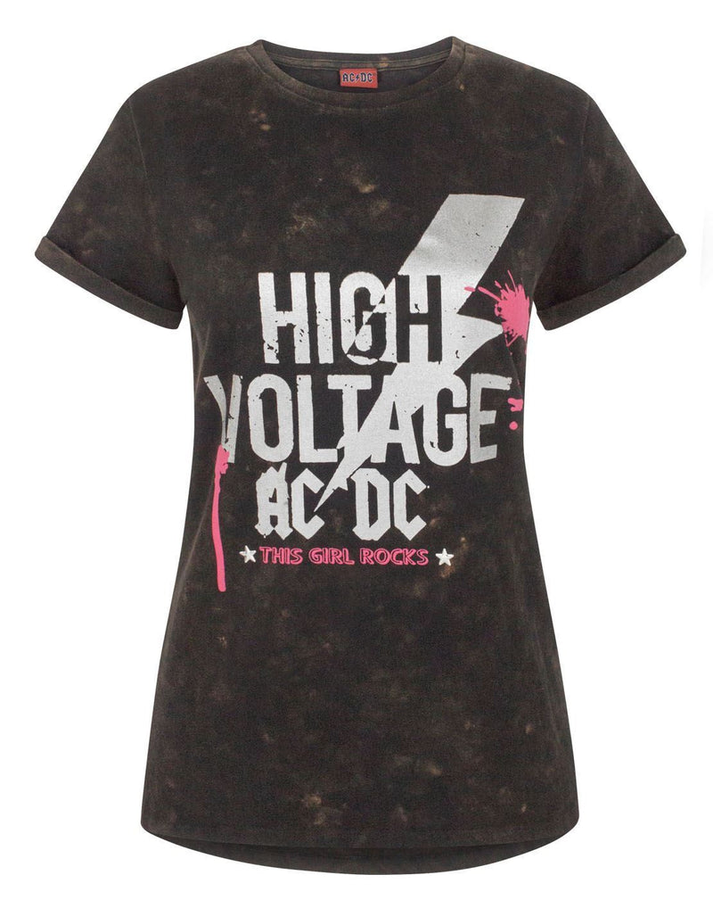 AC/DC High Voltage Acid Wash Women's T-Shirt