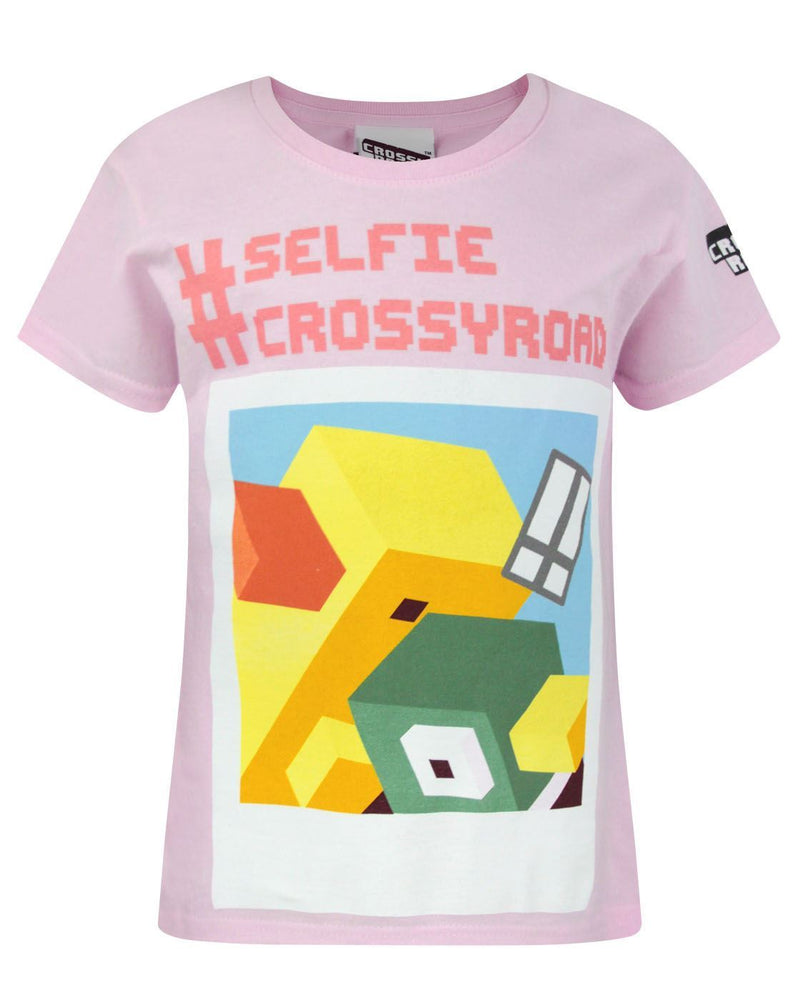Crossy Road Selfie Girl's T-Shirt