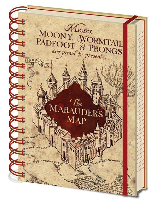 Harry Potter Hogwarts Letter Pencil Case and Marauders Map Notebook Stationary Set