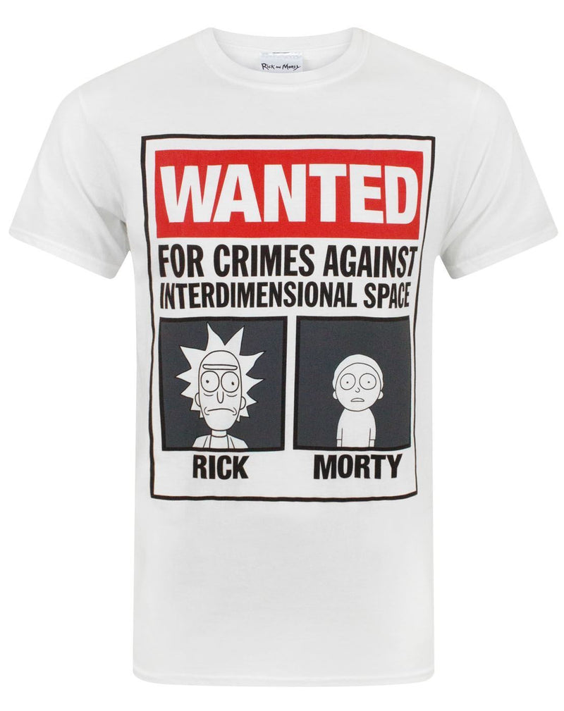 Rick And Morty Wanted Men's T-Shirt