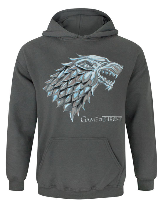 Game Of Thrones Metallic Stark Direwolf Men's Hoodie