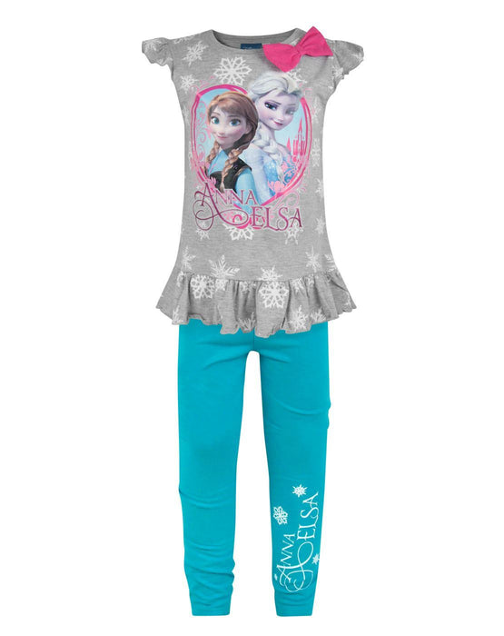 Frozen Snowflake Girl's Top And Leggings Set