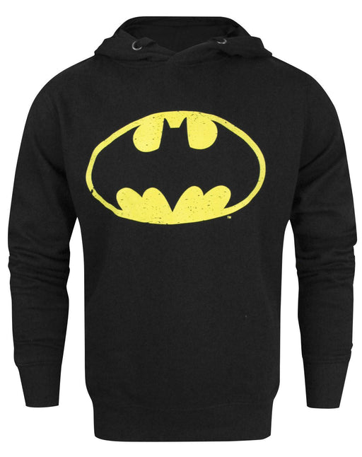 Batman Speckle Distressed Logo Men's Hoodie