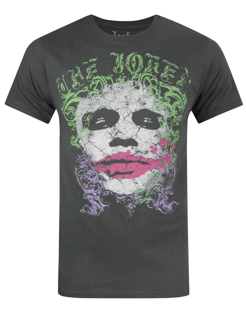 Jack Of All Trades The Joker Distressed Face Men's T-Shirt
