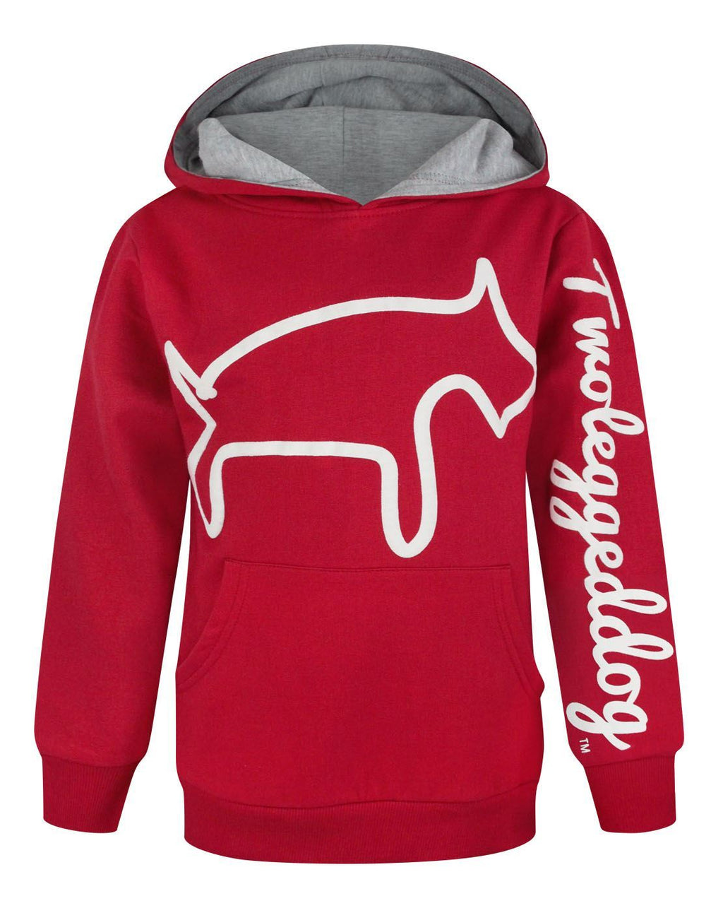 Two Legged Dog Puff Print Boy's Hoodie