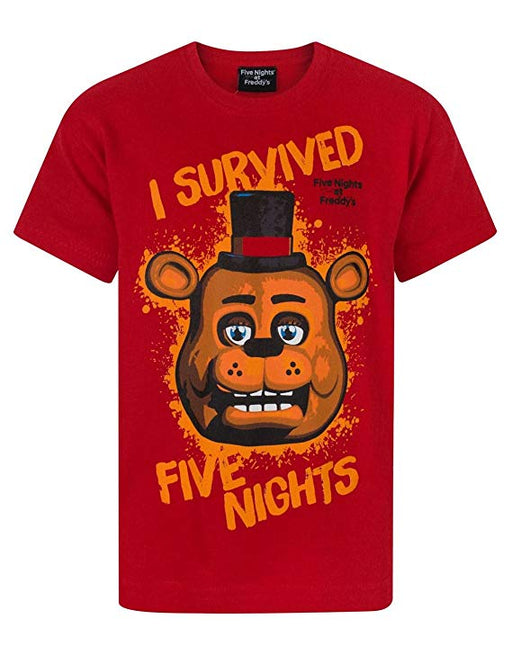 Five Nights at Freddy's I Survived Red Boy's T-Shirt