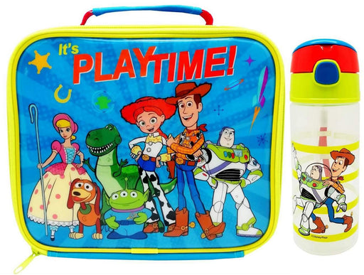 Disney Toy Story Playtime Lunchbox Bag and Water Bottle Bundle Set