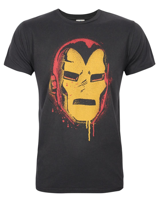 Junk Food Iron Man Face Men's T-Shirt