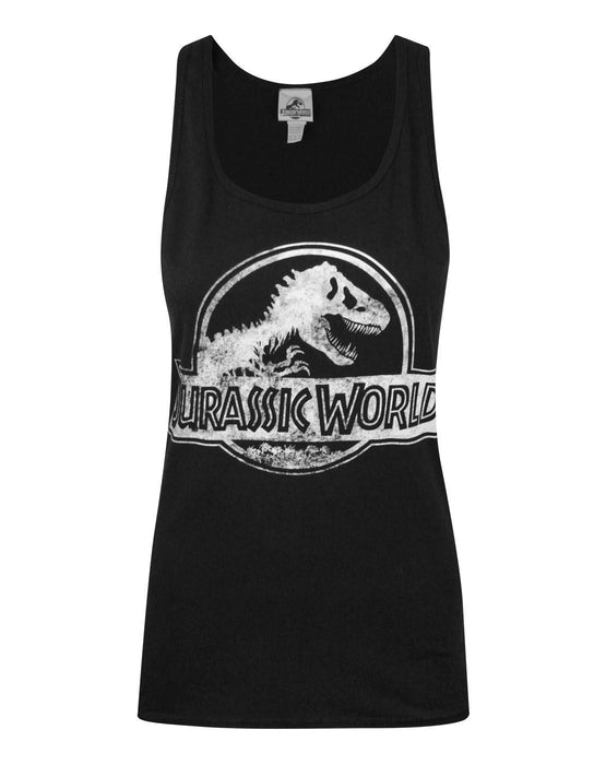 Jurassic World Distressed Logo Women's Vest