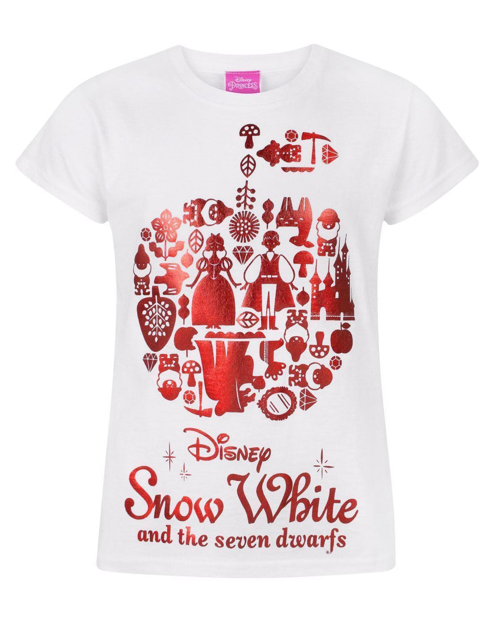 Disney Snow White Red Foil Girl's T-Shirt