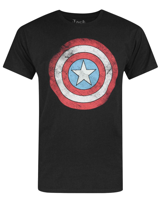 Jack Of All Trades Captain America Distressed Dot Logo Men's T-Shirt