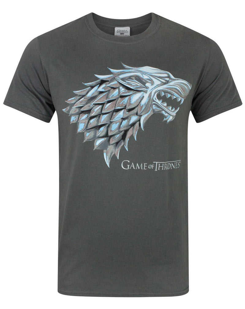 Game Of Thrones Metallic Stark Direwolf Men's T-Shirt