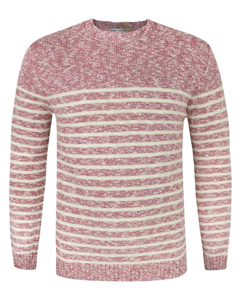 Common Sons Red Striped Knitted Jumper