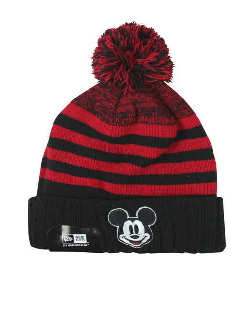 New Era Mickey Mouse Snowfall Striped Knit Hat