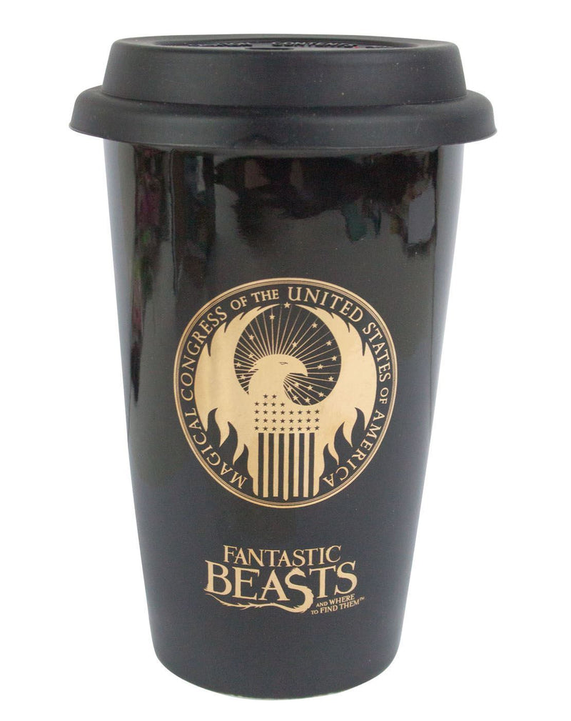 Fantastic Beasts And Where To Find Them MACUSA Logo Travel Mug